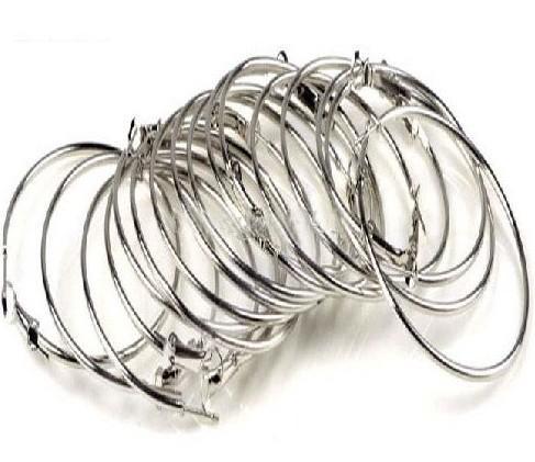 30 paires = 60pcs Poparazzi Basketball Wives boucle d'oreille cerceau d'oreille or / argent 50mm