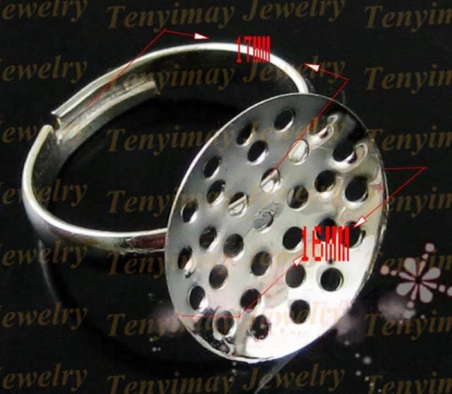 Base de anillo ajustable, anillo abierto en blanco para DIY, hallazgos anillo de aleación de cobre 200 unids / lote envío gratis