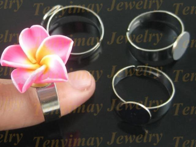 DIY 도매에 대 한 합금 반지 기본 DIY 도매에 대 한 합금 반지 자료 자유로운 조정 가능한 금속 일반 반지 설정