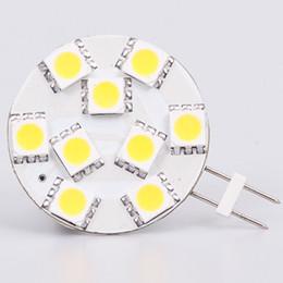 Wholesale 12vdc Led - Free Shipment SMD5050 G4 Led Lamp 9led 12VAC&12VDC&24VDC&24VAC Dimmable White Warm White Super Bright 10pcs lot