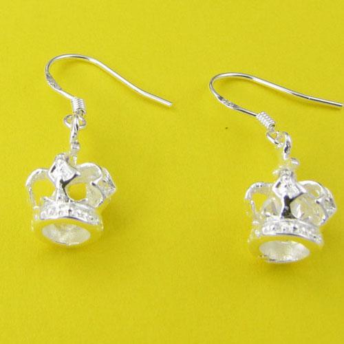 Мода производитель ювелирных изделийстерлингового серебра 925 ювелирные изделия императорская корона серьги ювелирные изделия серебряные ювелирные изделия заводская цена мода