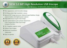 Wholesale Iriscope Analyzer - Free DHL UPS Shipping 5.0 MP High Resolution USB Digital Iris Analyzer, Iriscope, Iridology Camera, Iris Diagnosis System 900U