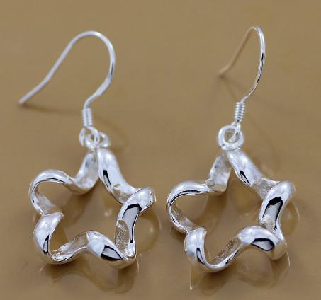 Ganska unik virvelstjärna tag mode smycken tillverkare 20 st Många örhängen 925 sterling silver smycken fabrikspris mode
