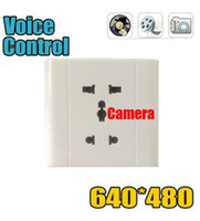 Video Spy Voice-Activated Wall Socket Enregistreur caméra CAM caché 30FPS DV DV