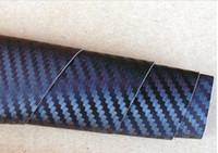 """Wholesale Carbon Fiber Weave Vinyl - 24"""" x 49""""3D Twill-Weave Glossy Black Carbon Fiber Vinyl Film Interior Exterior car body wrap"""