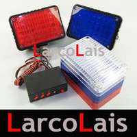 10 Sets Car Multi-Function 2x40 LED Strobe Tail Light Rouge Blanc Blue Warning Flash Controller 80LED