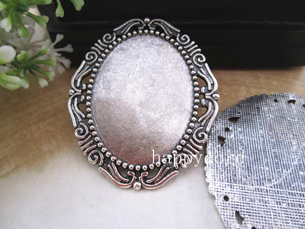 30mmmx40mm owalne Plated Cabochon Base RC032 Antique Silver i Bornze Color 40 PC / LOT