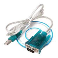 ingrosso cablaggio del cavo rs232-300 pz / lotto USB 2.0 a RS232 Serial 9 Pin DB9 9 Pin Cable Adapter PC PDA GPS FEDEX Spedizione Gratuita 0001