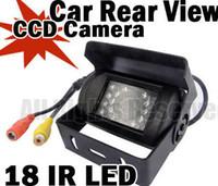 Wholesale Sharp Ccd Waterproof Camera - 1 4 Sharp CCD Waterproof 18 IR D N Car Reverse Backup Car Rear Camera + 5 m video cable