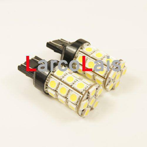 2 UNIDS Blanco 27 LED 7443 T20 5050 Coche Interruptor de Freno Inversa Tail Indicador Singal Stop Bombilla Lámpara