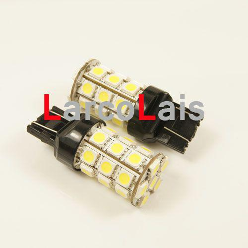 Branco 27 LED 7443 T20 5050 Car Brake Turn Reversa Cauda Singal Indicador Parar Lâmpada Lâmpada