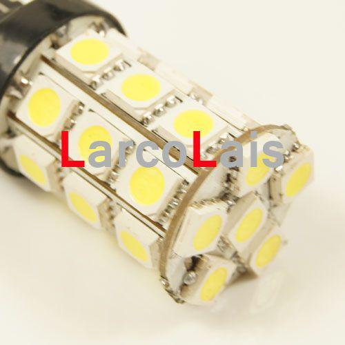 백색 27 LED 7443 T20 5050 차 회전 브레이크 후미 꼬리 신호 지시자 정지 전구 램프