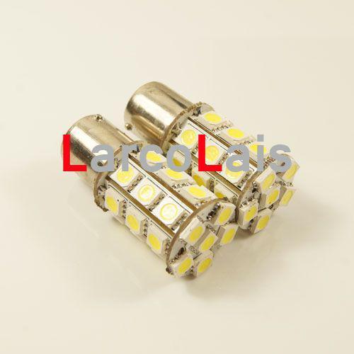백색 27 LED 1156 BA15S 5050 차 회전 브레이크 후방 꼬리 Singal 지시자 전구 램프