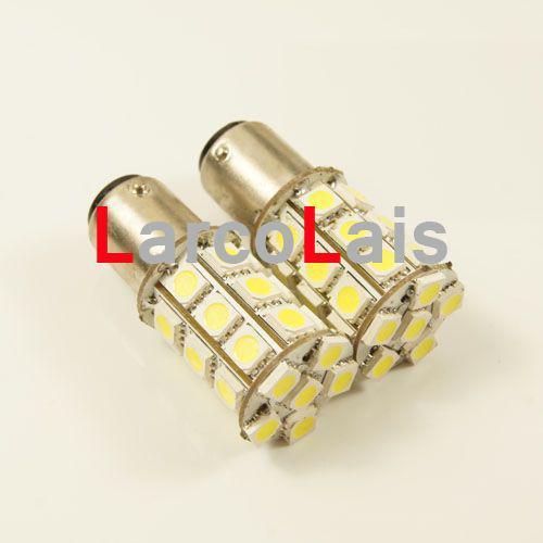 blanc 27 LED 1157 BAY15D 5050 voiture tourner le frein inverser la queue Singal indicateur ampoule lampe