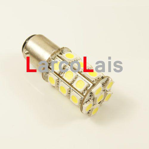 Bianco 27 ​​LED 1157 BAY15D 5050 Auto Turn Brake Reverse Tail Singal Indicatore Lampadina