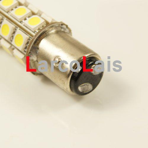 10 unids Blanco 27 LED 1157 BAY15D 5050 Coche Gire el freno de cola inversa Singal indicador de la lámpara de la lámpara