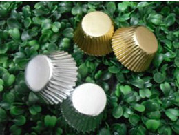Wholesale Baking Cups Liners - mini cute 2.5inch 1000pcs hot golden sliver petal type cupcake liners baking paper cup muffin cases for party