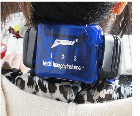 Máquina cervical infravermelha da massagem do instrumento da terapia do pescoço com linha máquina do tens do controle
