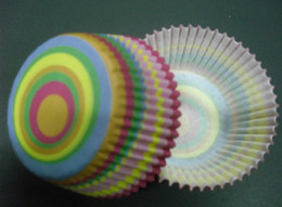 Cupcakes Mix Canada - 500pcs mix color combine circle whirl cupcake liners baking paper cup muffin cases for party