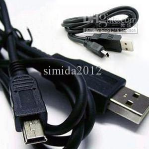 Livraison gratuite * 5PIN MINI B À UN CABLE USB 2.0 MP3 MP4 CAMERA
