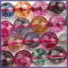 Wholesale Loose Jade Gems - 6mm,8mm,10mm Multicolor Tourmaline Gem Round Loose Bead 15inch AAA