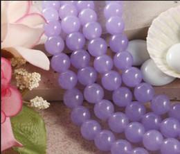 Wholesale Purple Gemstone Beads Loose - Pick size 4 6 8 10 12MM Lilac Alexandrite Smooth Round Loose Beads jewelry Beads Gemstone 15inch Strand Free Shipping