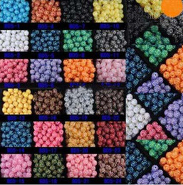 Wholesale Wholesale Loose Acrylic Crystals - 200PCS 10MM 12MM 14MM 16MM Mix Color EXPOY Balls Resin Crystal Pave Spacer Loose Beads