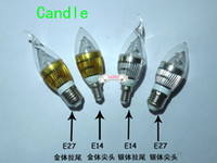 Wholesale Chandeliers For Candles - 10pcs lot New arrival 3W E14 High Power LED Candle Light Bulb Lamp for Ceiling chandelier