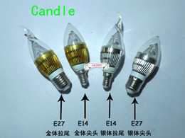 Wholesale Led Candles For Chandeliers - 10pcs lot New arrival 3W E14 High Power LED Candle Light Bulb Lamp for Ceiling chandelier