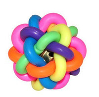 Wholesale Number Electronics - Hot New Small colorful pet sounding toy-chewing rubber ball Electronic Pet Toys free shipping with tracking number