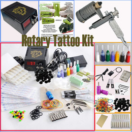 Wholesale Rotary Machine Grip - Wholesale Rotary Tattoo Machine Gun Kits Power Supply Needles Tip Grip Adjusted Tools Accessories Tatttoo Gun Kits