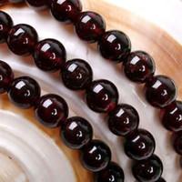 ingrosso round red beads-Scegli la taglia Più scelte 4mm, 6mm, 8mm, 10mm Sri Lanka Rosso Granato Liscio Rotondo Gemstone Branelli allentati 15 pollici Strand gioielli Perline Spedizione gratuita