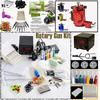 Rotary Tattoo Machine Gun Kits LED Power Supply 20 Needles Tip Grip Tools Tattoo Supply Kits