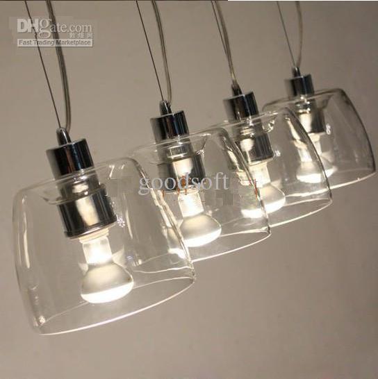 contemporary glass lighting. Shade Size\u003d10cm X15cm Cord Length\u003d120cm Materal: Glass Light Bulb: E14 40W  X 4 (not Include Light Bulbs) Voltage: 110V Or 240V Contemporary Glass Lighting L