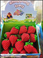 Wholesale Strawberry Reusable Tote Shoulder - Reusable Bags Strawberry Cute Eco Reusable Shopping Shoulder Tote Bag(200pcs)