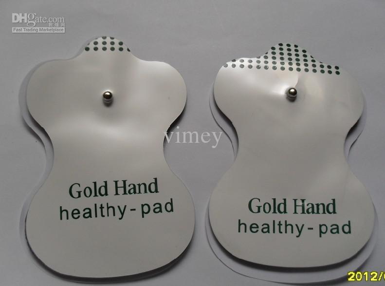 -électrodes anglaises de gel d'électrode pour des massagers électroniques et dix machines de thérapie d'acuponcture