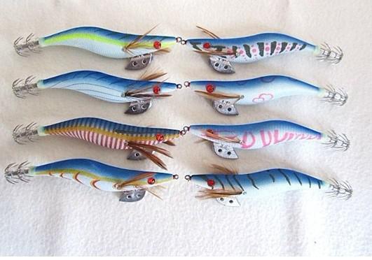 오징어 후크 나무 새우 미끼 믹스 색상 주문