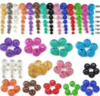 Wholesale Craft Basketball Beads - HOT! 100pcs Basketball Wives Inspired Hoop Earrings Mesh Beads Craft Findings Mix Colors 12mm