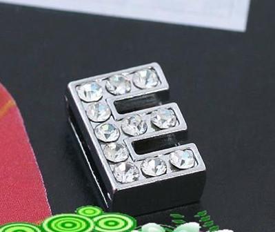 Vente en gros - 10mm * E * lettres de glisse portent des lettres Fit collier pour animaux de compagnie DIY Charms 0029