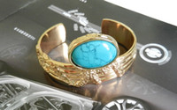 Wholesale Arty Rings - Women Gold Brand Bracelet Real Big Stone Embed Gold Arty Cuff Bangle 4 Colors High Quality European Style Have Same Finger Rings