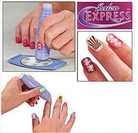 Wholesale Nails Design Stamp - Big discount In Stock NEW SALON EXPRESS NAIL ART STAMPING KIT CREATE 100'S OF DESIGNS Free Shipping
