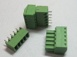 $enCountryForm.capitalKeyWord Canada - 20 pcs 5pin way Pitch 3.81mm Screw Terminal Block Connector Green Color T Type with pin