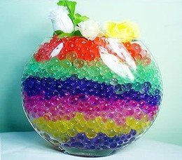 China Wholesale 50Bags Jelly Crystal Mud Soil Water Beads Flower Plant Magic Ball 5g bag free shipping suppliers