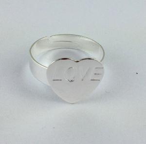 justierbarer Ring-Unterseiten-freier Raum-Kleber-auf Herz-Auflage # 20778