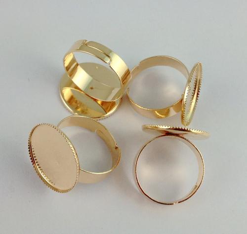 Rose Gold überzogener Ring-Unterseiten-freier Raum Kleber-auf 18mm # 20832