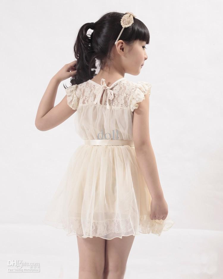 Großhandel Heiße Babykleid Kinder Mädchen Schönes Kleid Mädchen ...