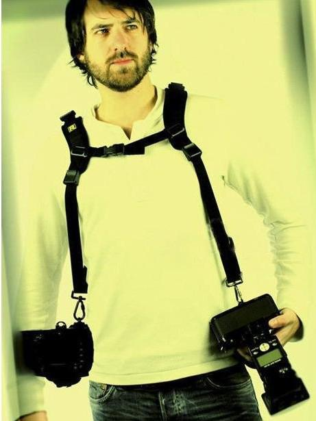 Quick Double Camera Strap Neck Shoulder Belt Strap SLR DSLR camera shoulder strap for 2 cameras