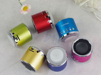 Wholesale Kaidaer Mini Speaker Wholesalers - Free shipping Mobile Speaker original KAIDAER KD-MN01 TFcard portable speaker,100% cool quality+mini round speaker+Gift box pack