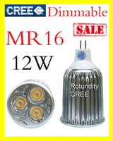 Wholesale Led Bulbs 3x4w - 10X Dimmable High power CREE MR16 GU5.3 3x4W 9W 12W LED Light Bulb Lamp Downlight bright 12v