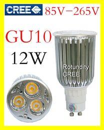 Wholesale Led Bulbs 3x4w - On sales High power CREE GU10 3x4W 9W 12W LED Light Bulb Lamp Downlight bright AC 85V-265V